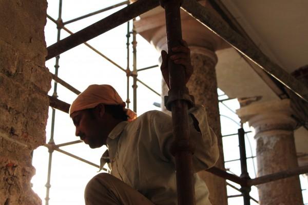 Un obrero indio en Delhi | AGUS MORALES