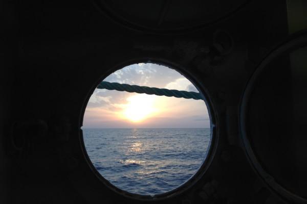Vista del Mediterráneo desde el barco de rescate de Médicos Sin Fronteras Dignity I.